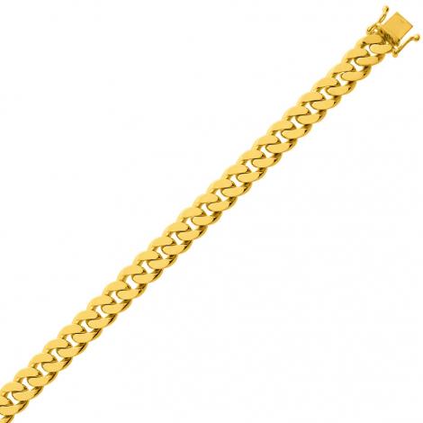 Bracelet en or maille Gourmette 6mm - 27g Valentine