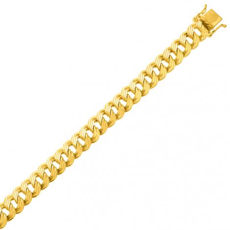 Bracelet en or maille Gourmette 7mm - 16.8g Tallulah