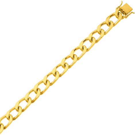 Bracelet en or maille Gourmette 7mm - 27.8g Solèna