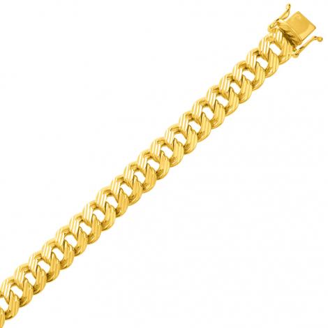 Bracelet en or maille Gourmette 8mm - 23.1g Susanna