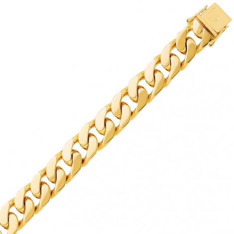 Bracelet en or maille Gourmette 8mm - 51.3g Sérénité
