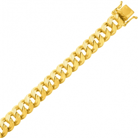 Bracelet en or maille Gourmette 9mm - 31.6g Stefania