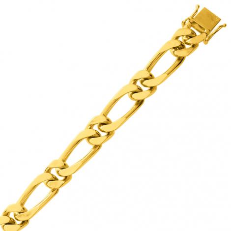 Bracelet en or maille Gourmette 9mm - 50g Valeriya