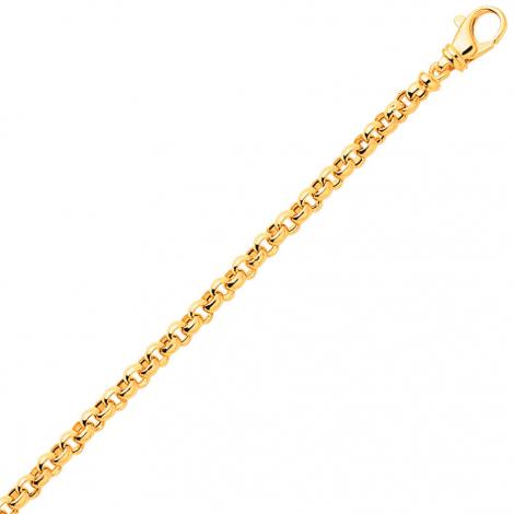 Bracelet en or maille Jaseron 3mm - 2.4g Rhodia