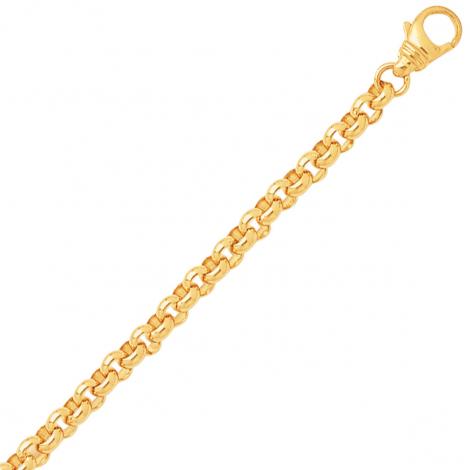 Bracelet en or maille jaseron 5mm - 17.2g Judith
