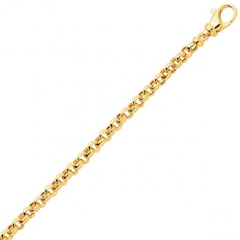 Bracelet en or maille Jaseron 5mm - 8.1g Delphes
