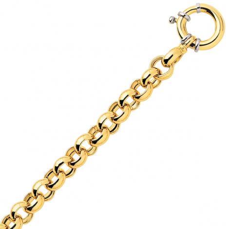 Bracelet en or maille Jaseron 9mm - 20.2g Elena