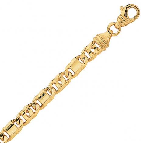 Bracelet en or maille marine alternée 4mm - 9.1g Mara