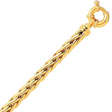 Bracelet en or maille Palmier 6mm - 15.65g Délia