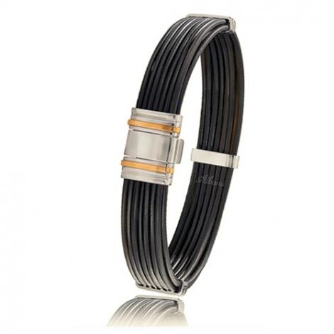- Bracelet en Poils d'éléphant et or 10.65g - 13 mm Aurora - 698ELTTORrose
