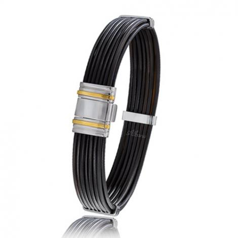 - Bracelet en Poils d'éléphant et or 10.65g - 13 mm Milles éclats - 698ELTTORjaune