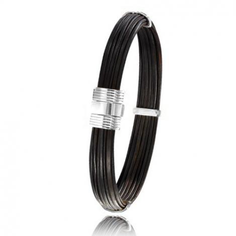 - Bracelet en Poils d'éléphant et or 10.7g - 9 mm Annabelle - 606ELORblanc