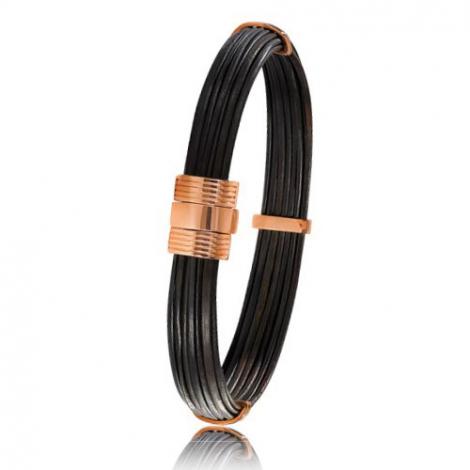 - Bracelet en Poils d'éléphant et or 10.7g - 9 mm Estelle - 606ELORrose