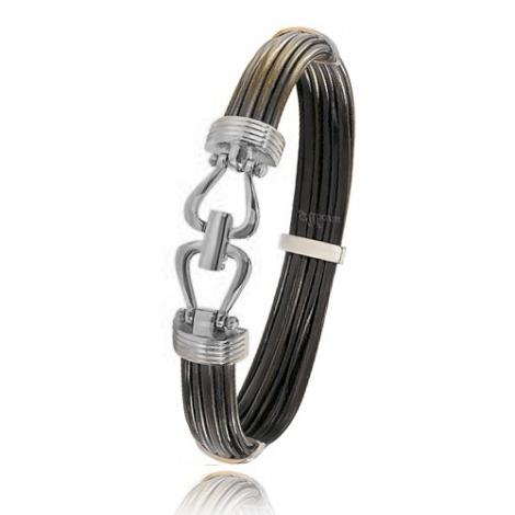 - Bracelet en Poils d'éléphant et or 13.5g - 9 mm Anna - 730ELORblanc