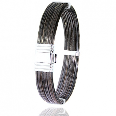 - Bracelet en Poils d'éléphant et or 14.4g -  Raiura - 696ELORblanc
