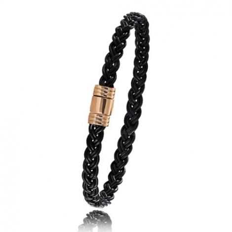- Bracelet en Poils d'éléphant et or 5g - 6 mm Camilla - 608TELORrose