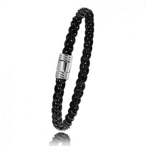 - Bracelet en Poils d'éléphant et or 5g - 6 mm Irène - 608TELORblanc