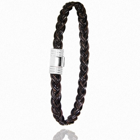 - Bracelet en Poils d'éléphant et or 5g -  Ilona - 614TELTTORblanc