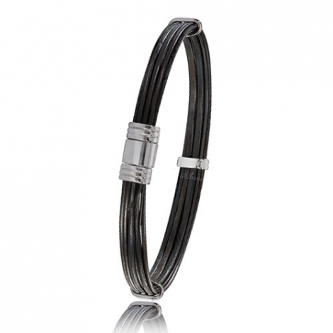 - Bracelet en Poils d'éléphant et or 7.1g - 6 mm Virginie - 696PELOR
