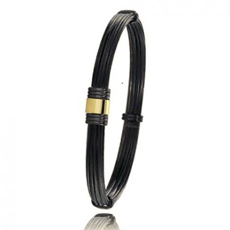 - Bracelet en Poils d'éléphant or PVD 0.45g - 6 mm Marguerite - 614NELORjaune