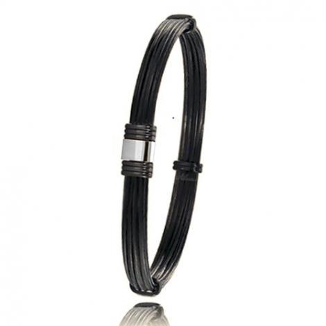 - Bracelet en Poils d'éléphant or PVD 0.45g - 6 mm Monica - 614NELORblanc