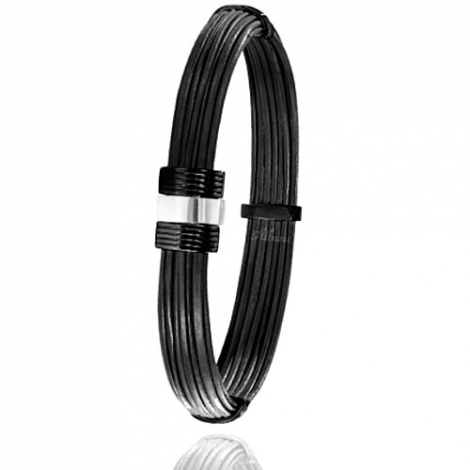 - Bracelet en Poils d'éléphant or PVD 0.45g -  Lorie - 607NELORblanc