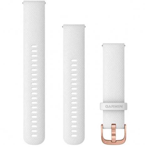 Bracelet en silicone Blanc - 20mm - Garmin - 010-12924-10