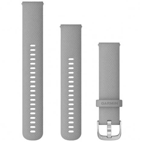 Bracelet en silicone Gris Poudré - 20mm - Garmin - 010-12924-00