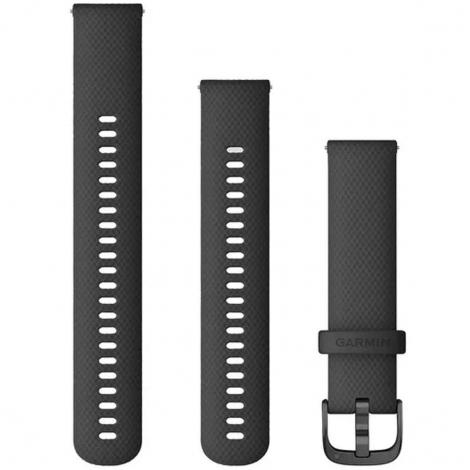 Bracelet en silicone Noir - 20mm - Garmin - 010-12932-11