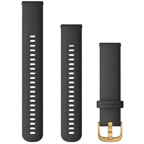 Bracelet en silicone Noir - 20mm - Garmin - 010-12932-13