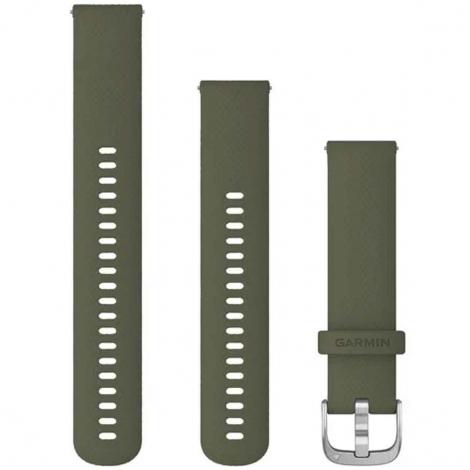 Bracelet en silicone Vert Mousse - 20mm - Garmin - 010-12924-11
