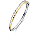 Bracelet esclave en argent plaqué or18 carats sertie de zirconium  Idylle - B1K08