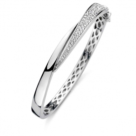 Bracelet esclave en argent serti de zirconium Naiomy Silver Silver - Femme - Cienna - N0A66