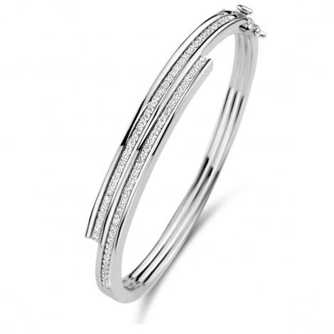 Bracelet esclave en argent serti de zirconium Naiomy Silver Silver - Femme - Rebeca - N1B58
