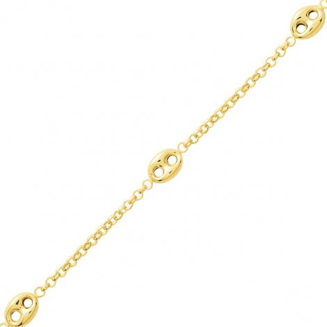 Bracelet fantaisie en or 9 carats Grain de café - 1.6g Tanya