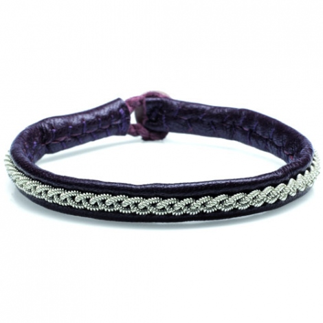 Bracelet  Hanna Wallmark MOSSA ONE  de couleur Noir- C01 large de 7 mm - Eliza - MOSSA ONE
