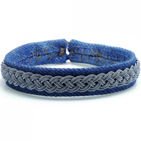 Bracelet Hanna Wallmark REGULAR JEAN de couleur  large de 14 mm - Adonia - REGULAR JEAN