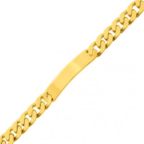 Bracelet identité homme or jaune 7mm - 37.35g