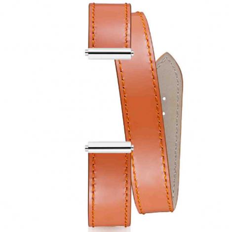 Bracelet interchangeable Herbelin Vernis Lisse Fenice Abricot 17048.60