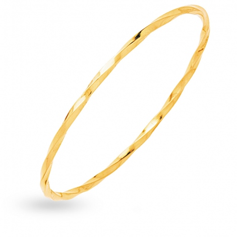 Bracelet jonc fil carré vrillé massif 2mm Tiana - 351.200