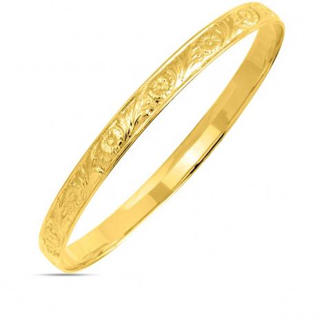 Bracelet jonc or jaune Alyona - 365
