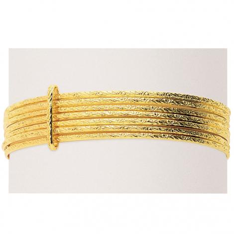 Bracelet jonc or jaune Florence - 303