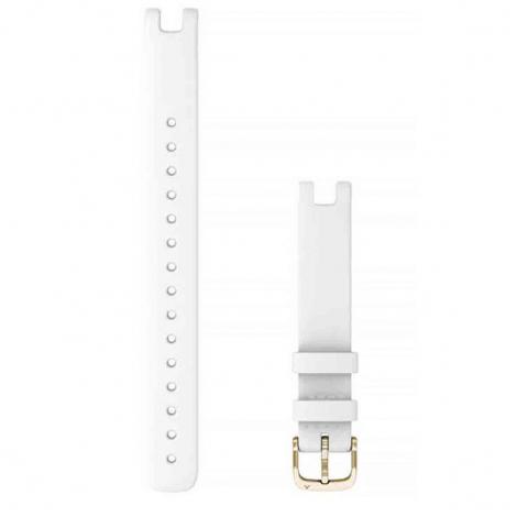 Bracelet Lily Cuir Italien blanc avec boucle Gold  - 010-13068-A3
