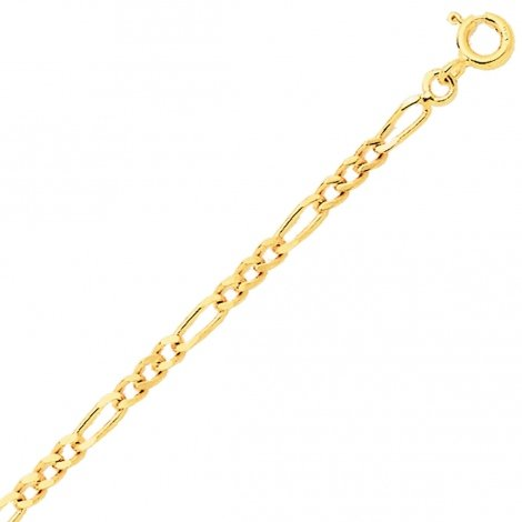 Bracelet maille Alternée 1.7mm - 1.2g Or 9 ct - 375/1000-Naïla