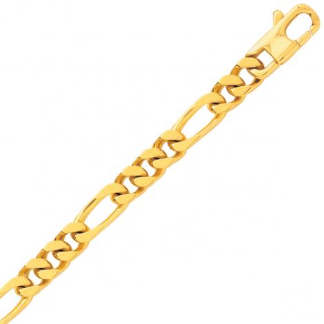 Bracelet maille Alternée 5 mm - 14.5g Or 18 ct - 750/1000-Margaux