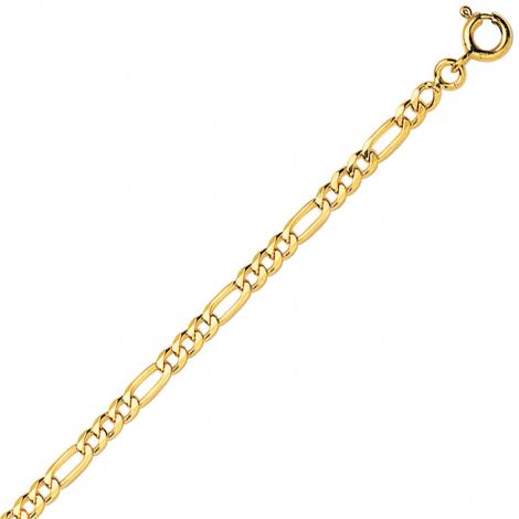 Bracelet maille Alternée ultra-plate 3mm - 2.4g Or 9 ct - 375/1000-Shannon
