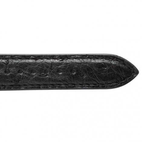 Bracelet Montre Autruche Mat Noir Chiyo - 18108-01