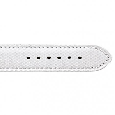 Bracelet Montre en cuir de chèvreau Blanc - Femme - Kathleen - 20713-05
