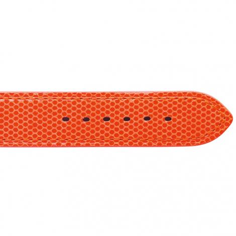 Bracelet Montre en cuir de chèvreau Orange - Femme - Allissa - 20713-22