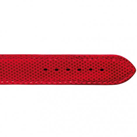 Bracelet Montre en cuir de chèvreau Rouge - Femme - Esha - 20713-07